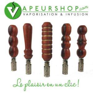 vaporisateur Dynavap VapCap Vong artisanal en bois Padouk pièce unique