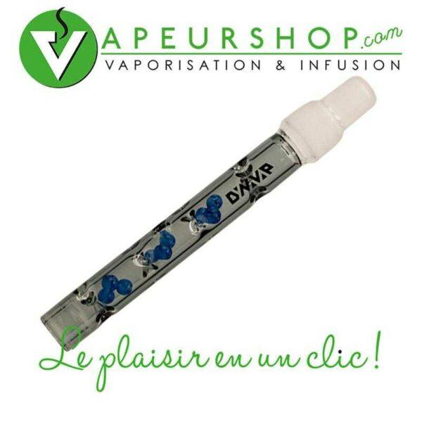 BB9 tige verre Dynavap original couleur dark vaporisateur vapcap verre XXL adaptable bubbler bang VapeurShop