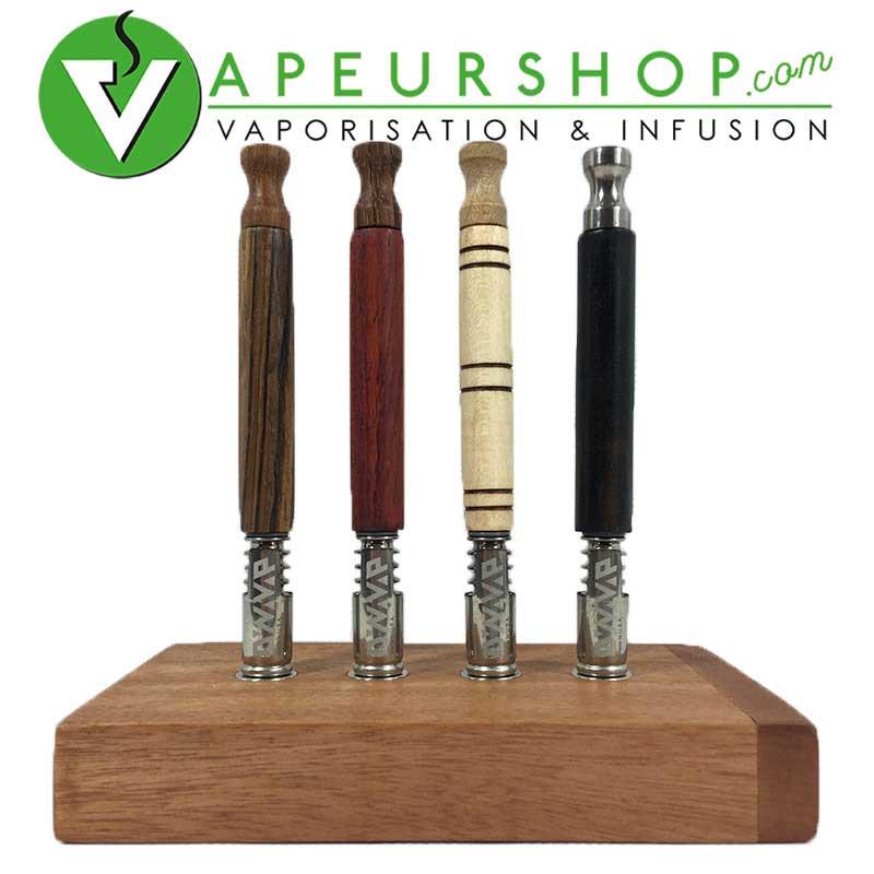 DynaQuad satsh xl pour Dynavap rangement 4 vapcap standard et XL pour vaporisateur Dynavap bois Acajou VapeurShop