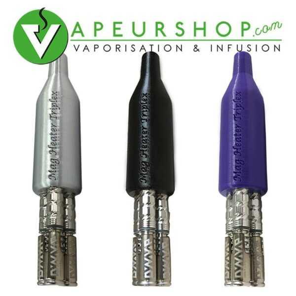 Triplex VapCap Dynavap MagHeater 3 en 1 black adaptateur vaporisateur VapCap M VapeurShop