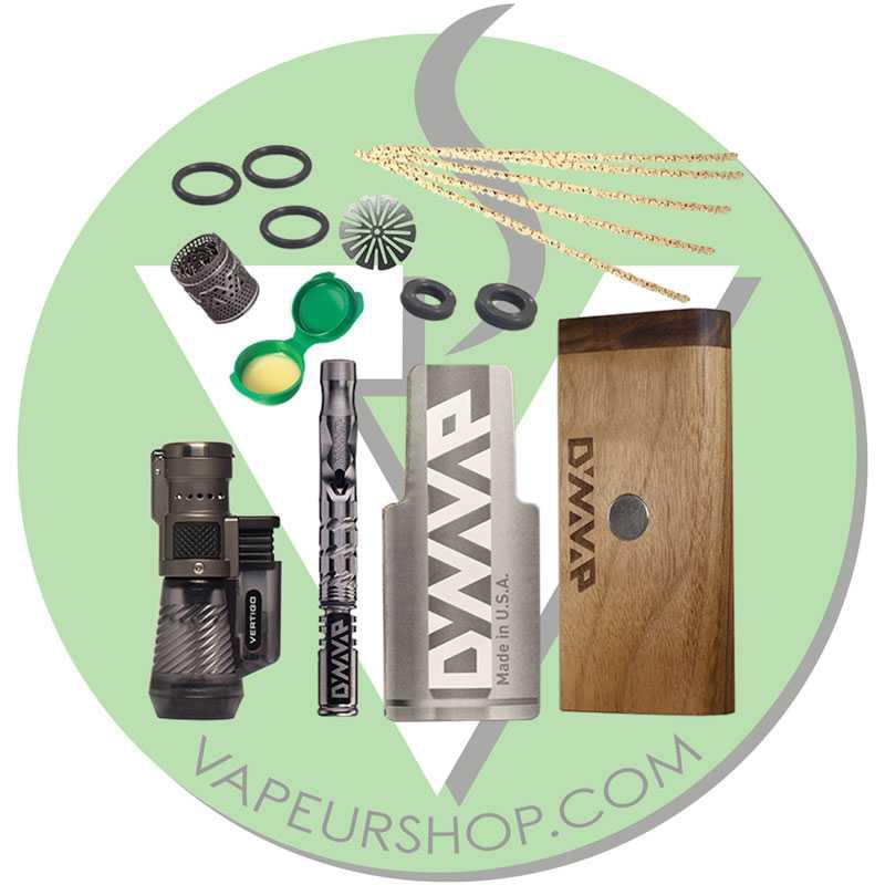 VapCap M 2020 Dynavap Pack Starter avec Walnut DynaStash avec DynaCoil et Porte VapCap portefeuille VapeurShop