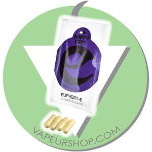 Happy Caps Euphory-E capsules de plantes euphorisantes euphorie VapeurShop
