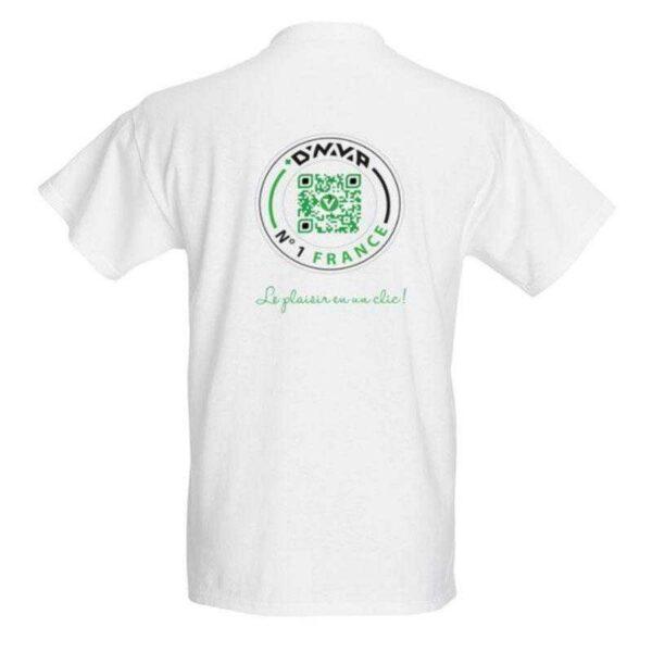 T-shirt VapeurShop Dynavap numéro 1 France blanc Homme Premium verso