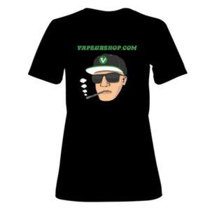 T-shirt VapeurShop Dynavap Dealer noir Femme Premium recto