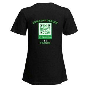 T-shirt VapeurShop Dynavap Dealer noir Femme Premium verso