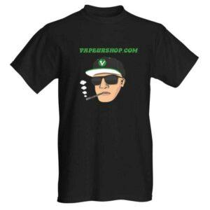 T-shirt VapeurShop Dynavap Dealer numéro 1 France noir Homme Premium recto