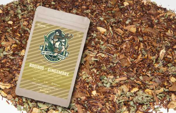 Infusion CBD Gingembre Rooibos herbes à infuser