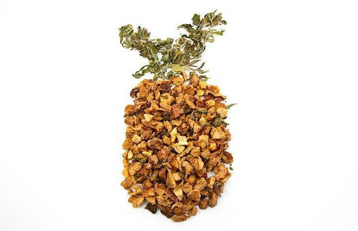 Infusion CBD pomme ananas fruits secs et herbes à infuser