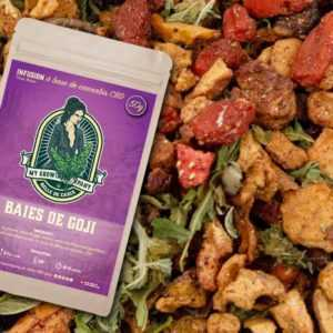 Infusion baies de Goji CBD fruits secs et herbes à infuser