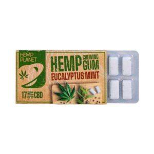 Hemp Chewing gum menthe eucalyptus CBD