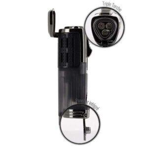 Briquet 3 torches avec capot EuroJet détails