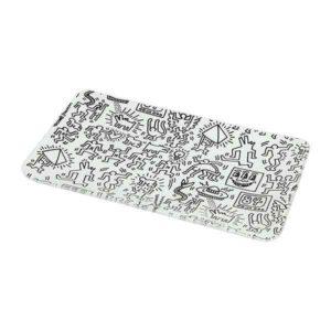 Plateau Keith Haring noir et blanc